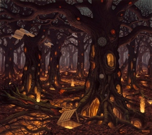 Autumn by Jacek Yerka ~ Thanks Sharry!