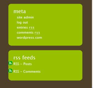 blog meta widgets